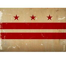 Washington DC Flag VINTAGE Photographic Print