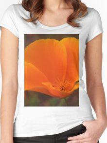 Orange Poppy Women's Fitted Scoop T-Shirt