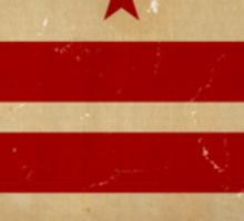 Washington DC Flag VINTAGE Sticker