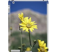 Wildflowers in front of mountains iPad Case/Skin
