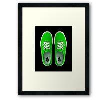 Vans - Green Framed Print