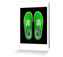 Vans - Green Greeting Card