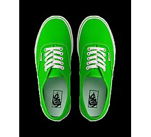 Vans - Green Photographic Print