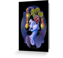 Pitcher Plant - Surreal Weird Art by Ela Steel Greeting Card