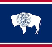 Wyoming State Flag by Carolina Swagger