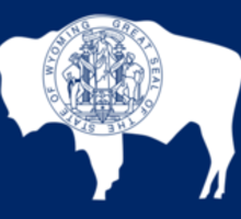 Wyoming State Flag Sticker