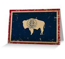 Wyoming State Flag VINTAGE Greeting Card