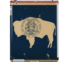 Wyoming State Flag VINTAGE iPad Case/Skin