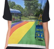 Rainbow Playground 3 Chiffon Top