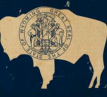 Wyoming State Flag VINTAGE Sticker