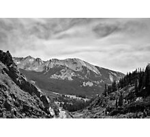 Ruby Range in Black and White Photographic Print