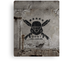 ODST Helljumpers (Black Scratched) Canvas Print