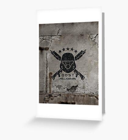 ODST Helljumpers (Black Distressed) Greeting Card