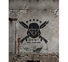 ODST Helljumpers (Black Scratched) Photographic Print