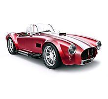 Cobra vintage sport car Photographic Print