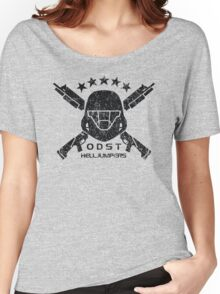 ODST Helljumpers (Black Distressed) Women's Relaxed Fit T-Shirt