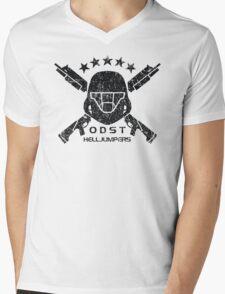 ODST Helljumpers (Black Distressed) Mens V-Neck T-Shirt