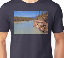 Canada. Canadian Rockies. Jasper National Park. Athabasca River. Cliff. Unisex T-Shirt