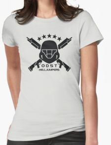 ODST Helljumpers (Black) Womens Fitted T-Shirt