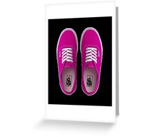 Vans - Pink Greeting Card