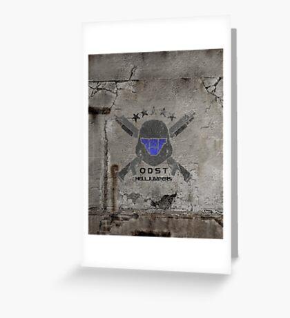 ODST Helljumpers (Color Distressed) Greeting Card
