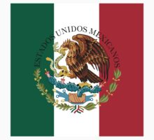 Flag of Mexico (augmented scale) with Coat of Arms (overlaid) One Piece - Short Sleeve