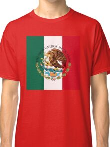 Flag of Mexico (augmented scale) with Coat of Arms (overlaid) Classic T-Shirt