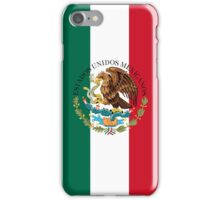 Flag of Mexico (augmented scale) with Coat of Arms (overlaid) iPhone Case/Skin