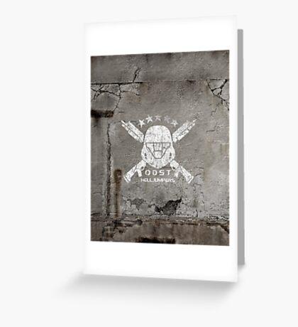 ODST Helljumpers (White Distressed) Greeting Card