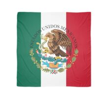 Flag of Mexico (augmented scale) with Coat of Arms (overlaid) Scarf