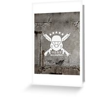 ODST Helljumpers (White) Greeting Card