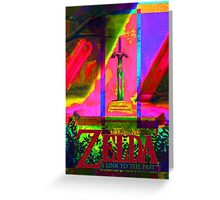 Legend of Zelda: Link to the past, colorful.  Greeting Card