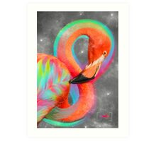 Infinite Possibilities - (Neon Infinity Flamingo) Art Print