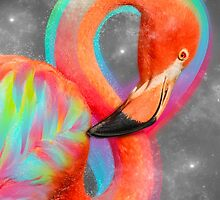Infinite Possibilities - (Neon Infinity Flamingo) by soaringanchor
