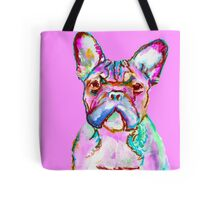 Pink French Bulldog Pop Art Tote Bag