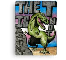 The T is Not Silent - Trans Pride Art Canvas Print