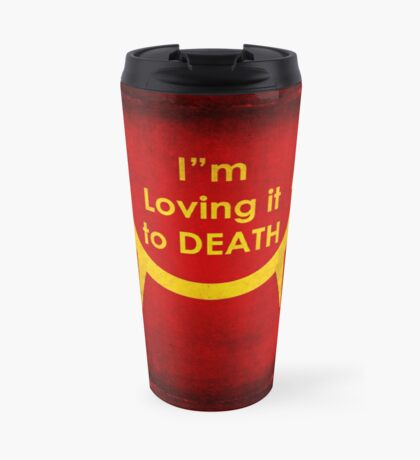 MacViper the zombie and vampire fast food chain, Bloody good food is our motto! Travel Mug
