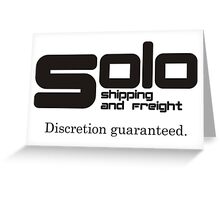 Solo Shipping and Freight Greeting Card