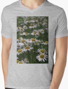 White Daisies Field Mens V-Neck T-Shirt