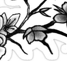 Black Cherry Blossom Sticker