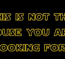 No soliciting, No trespassing - Star Wars Sticker