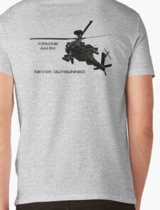 Apache Helicopter Mens V-Neck T-Shirt