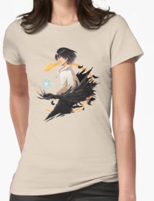 Howl and Calcifer  Womens Fitted T-Shirt