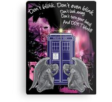 Weeping For The Tardis Metal Print