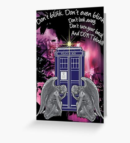 Weeping For The Tardis Greeting Card