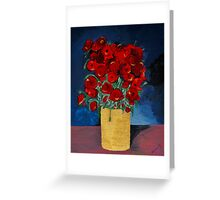 RED Poppies for Peace  Greeting Card