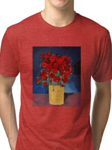 RED Poppies for Peace  Tri-blend T-Shirt