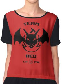 Team Red Chiffon Top