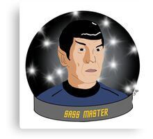 Spock: Sass Master Canvas Print