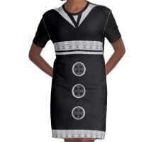 Ediemagic Tuxedo Graphic T-Shirt Dress